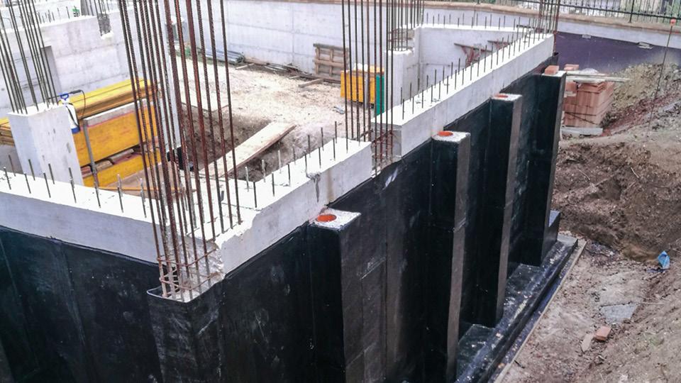 OSIMO: impermeabilizzazione muro contro terra